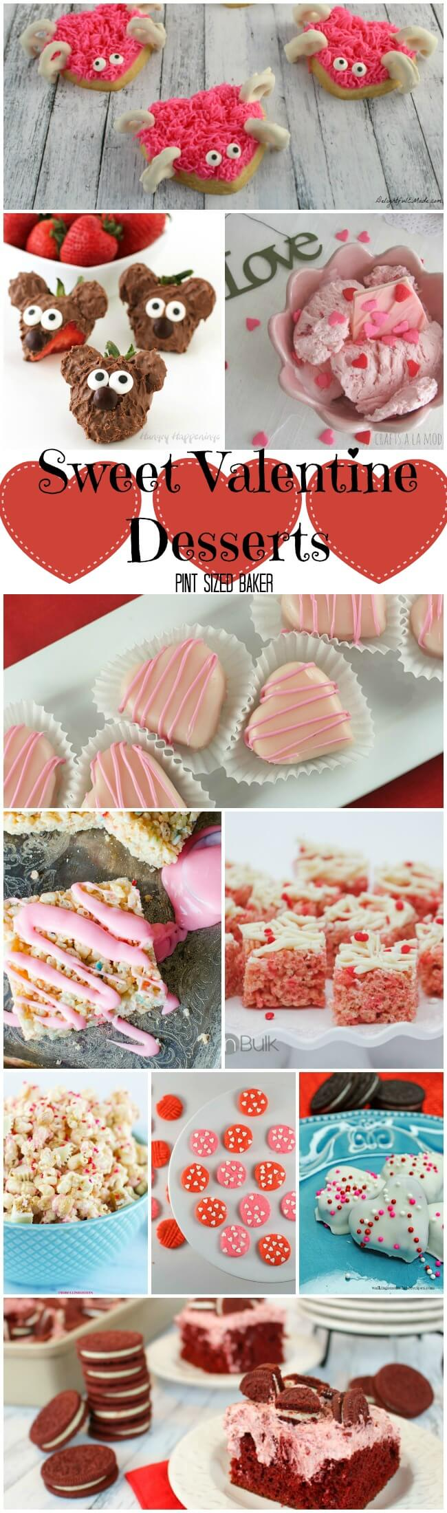 So many sweet Valentine desserts, so little time. Celebrate the ones you love with a new sweet treat everyday. Easy snacks to complex desserts.