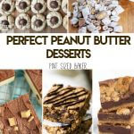 All peanut butter lovers are going to love these Perfect Peanut Butter Desserts. Cookies, pies, cakes, and candy all full of delicious peanut butter flavor.