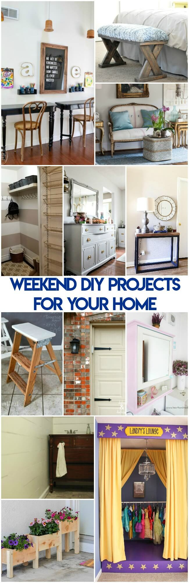 Got a itching for some DIY projects? Here's a few Weekend DIY Projects for Your Home that are inexpensive and straightforward to do.
