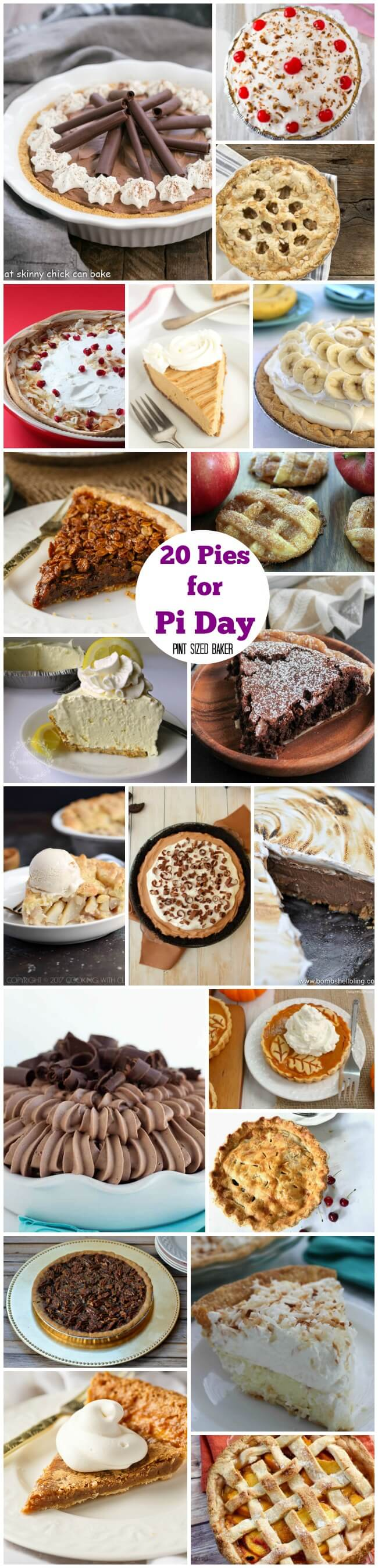 Everyone loves a slice of pie! Make it a la mode or serve it with whipped cream, here's 20 Pies for Pi Day that you can bake with the kids or surprise the family with. 3.14 is the perfect day to serve a homemade pie!