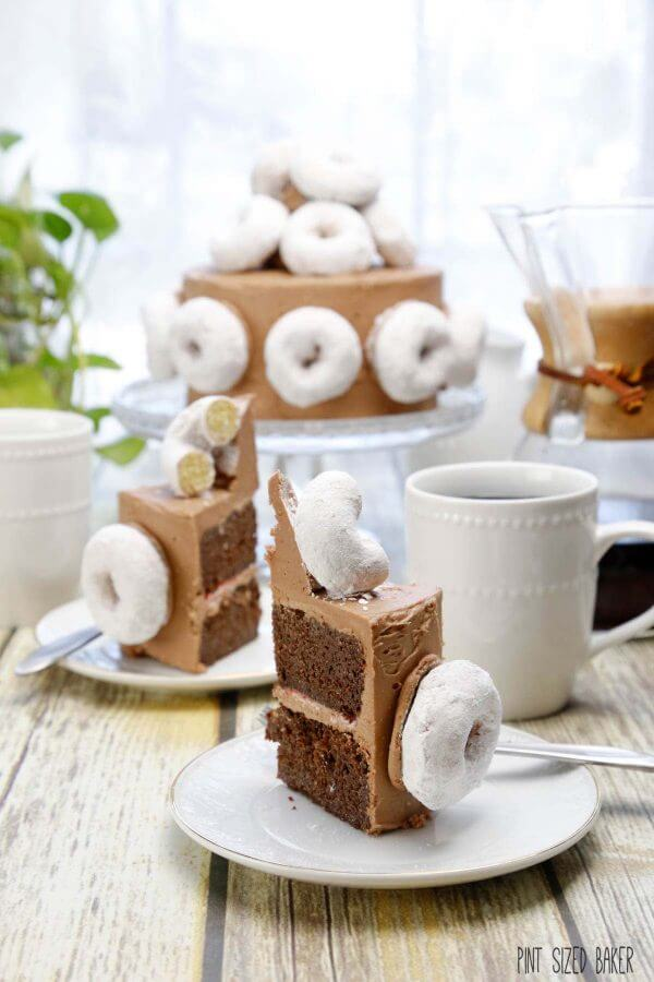 Coffee and Donuts Cake - Pint Sized Baker