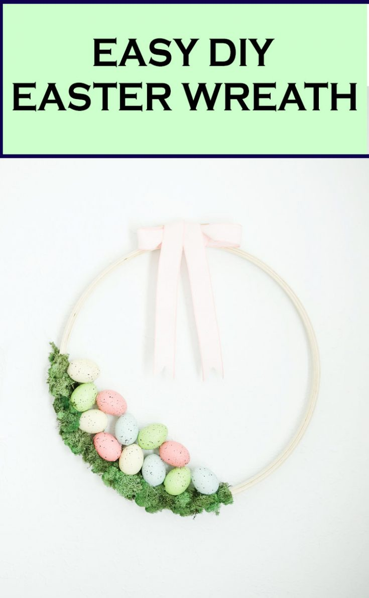 Easy Easter Wreath Idea – Embroidery Hoop Wreath DIY