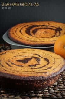 Vegan Orange Chocolate Cake. Very delicious, very moist. You'll never know it was vegan.