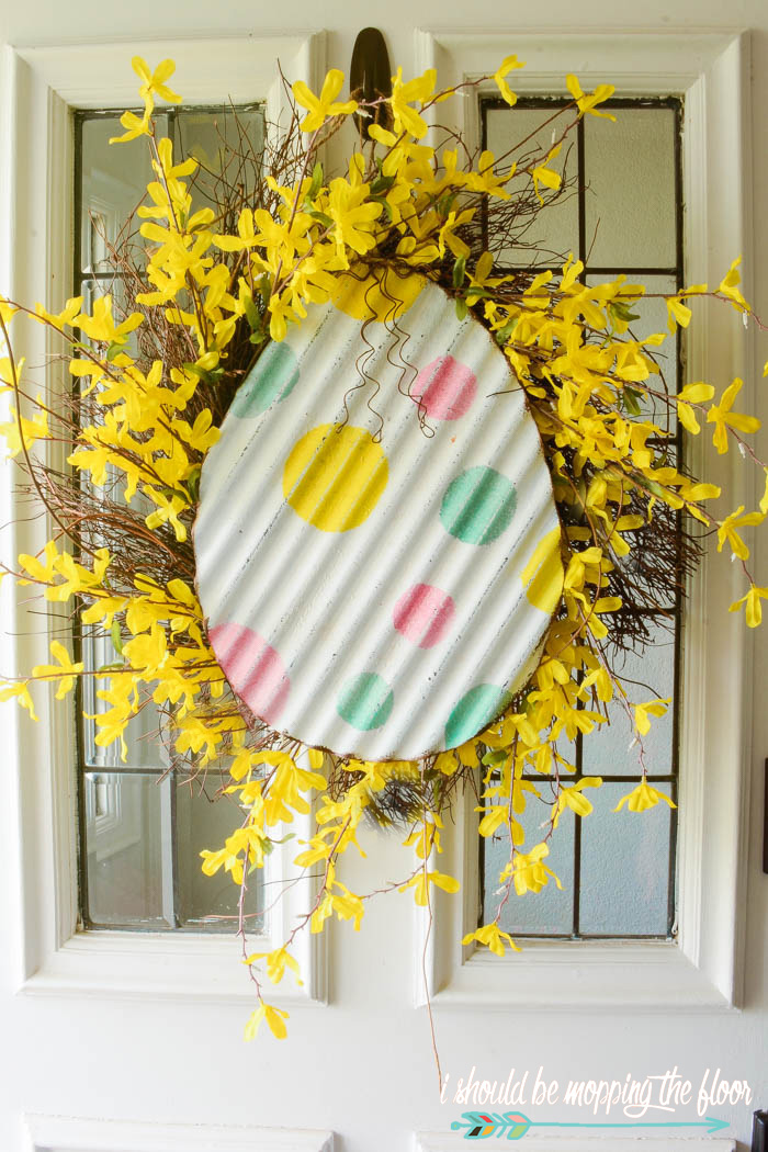 Upcycled Easter Door Decor