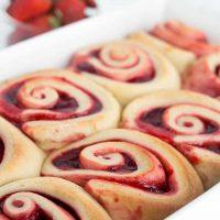 Strawberry Sweet Rolls