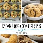 12 Fabulous Cookie Recipes that are perfect for a baking for the family. Bring a batch of cookies to the bake sale, book club, or work pot luck.