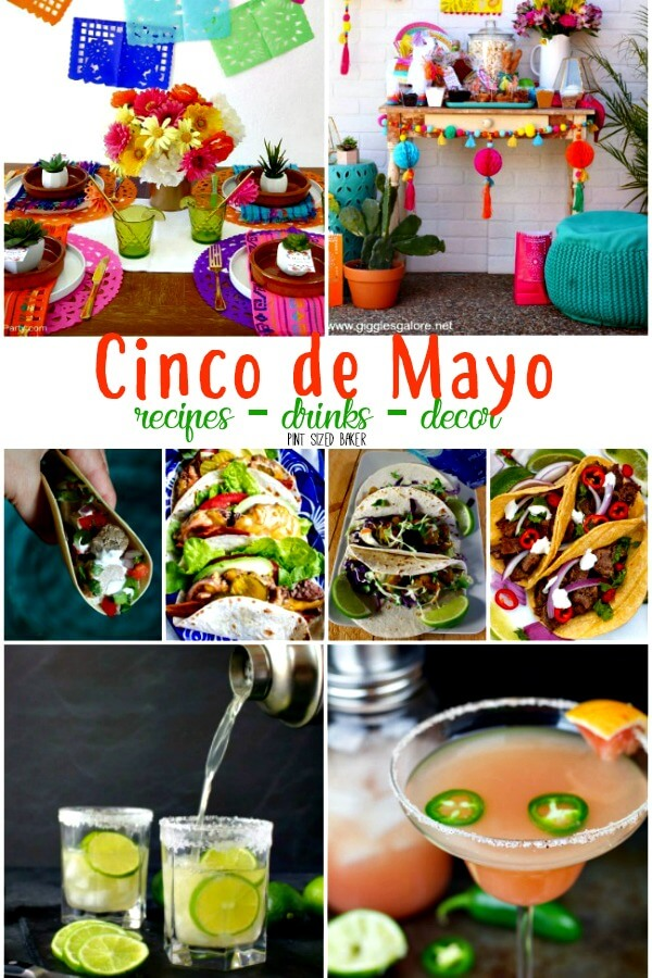 It's time for Cinco de Mayo - recipes, drinks, decor! you can find it all in one place. Decor idea for your party. Recipes for tacos, fajitas, tamales, flan, margaritas and more!