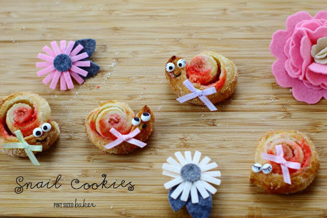 Puff Pastry Snail Cookies