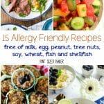 Here's 15 Allergy  Friendly Recipes so that you too can invite everyone over to your next dinner party!  These recipes contain NONE of the common food allergy items - NO milk, egg, peanut, tree nuts, soy, wheat, fish and shellfish.