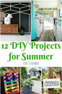 12 DIY projects for summer to keep you and the kids busy. From painting a room to building a flower garden There's something for every ability.