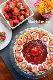 This is simply the best Strawberry Pie recipe and it's oh so good! I love the jam like strawberry filling! It makes the perfect dessert at a tea party!