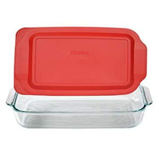 3 Quart Glass Baking Dish-13.2 INCH x 8.9inch x 2 inch