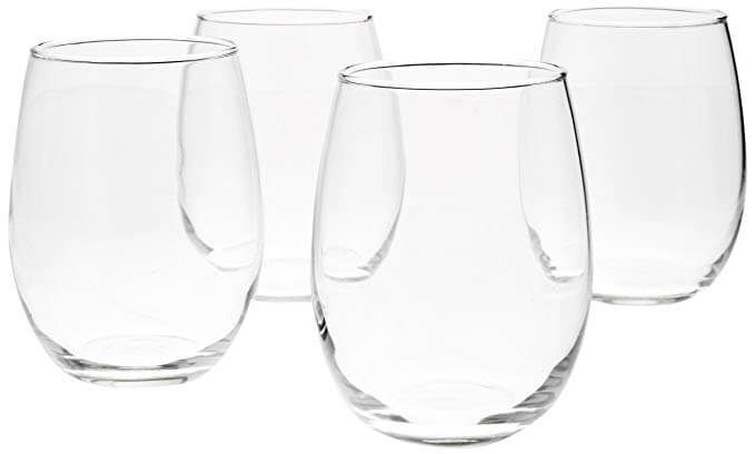 Stemless Wine Glasses, 15-Ounce - Set of 4