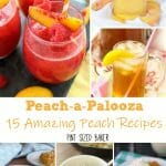 August is National Peach Month so enjoy the Peach-a-Palooza at the farmer's market and make some of these 15 Amazing Peach Recipes.