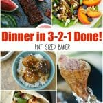 I know that the summer months can be tough without a routine to keep things moving along so here's Dinner in 3-2-1 DONE! 12 recipes the family will love.