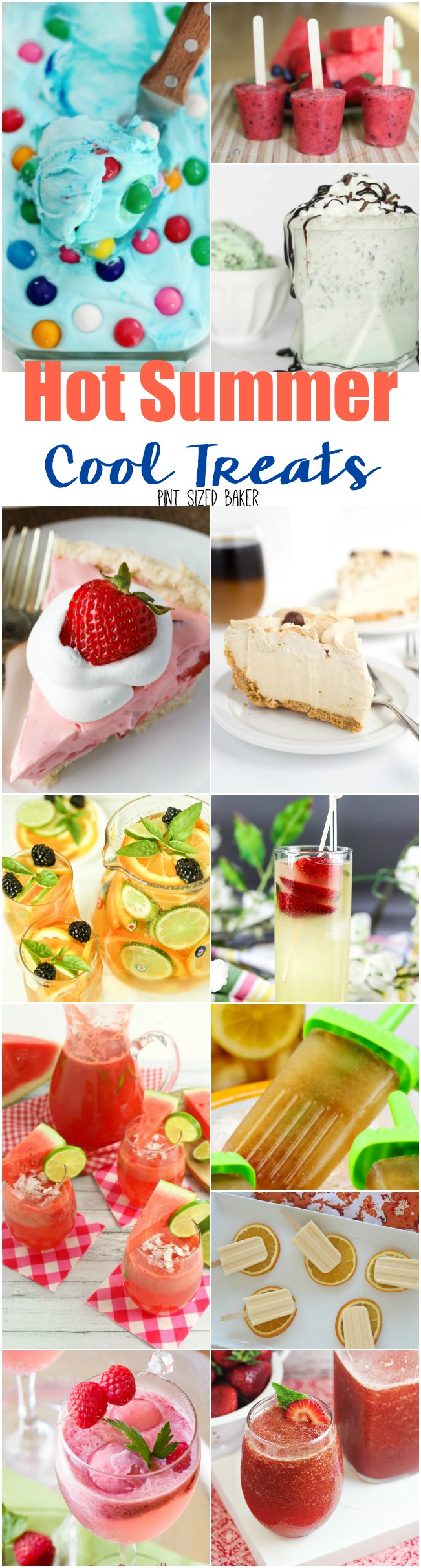 It's a Hot Summer! Cool Treats to the rescue! Ice cream, drinks, and freezer favorites!