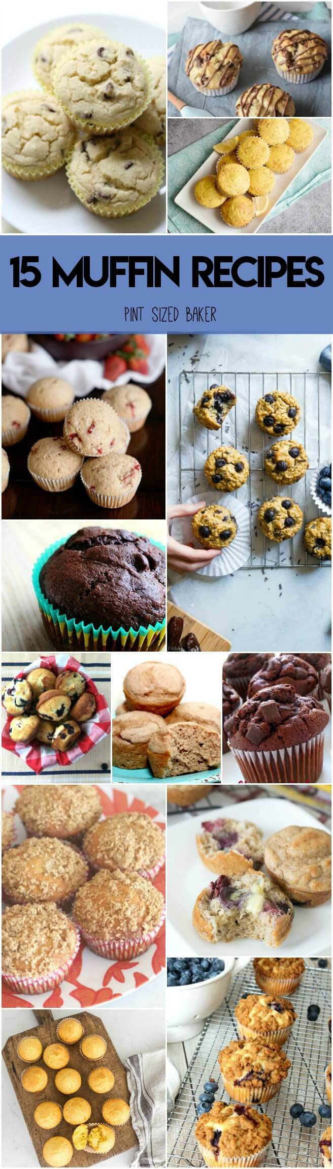Send your kids back to school with a freezer full of homemade muffins ready for them. Here's 15 Muffin Recipes to make in advance and fuel up the kids.