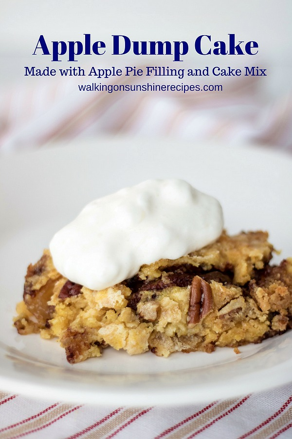Apple Dump Cake Easy and Delicious