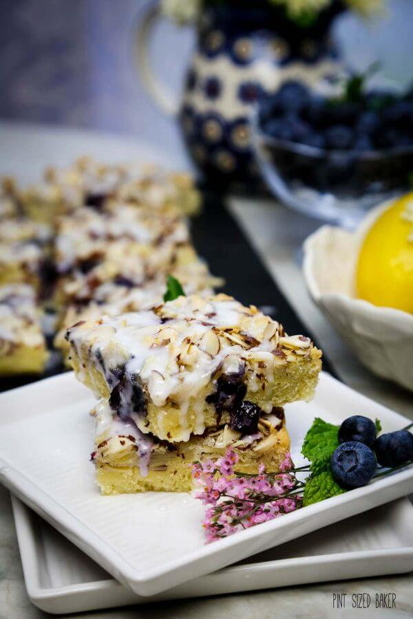 Blueberry Lemon Swedish Visiting Cake Bars Pint Sized Baker