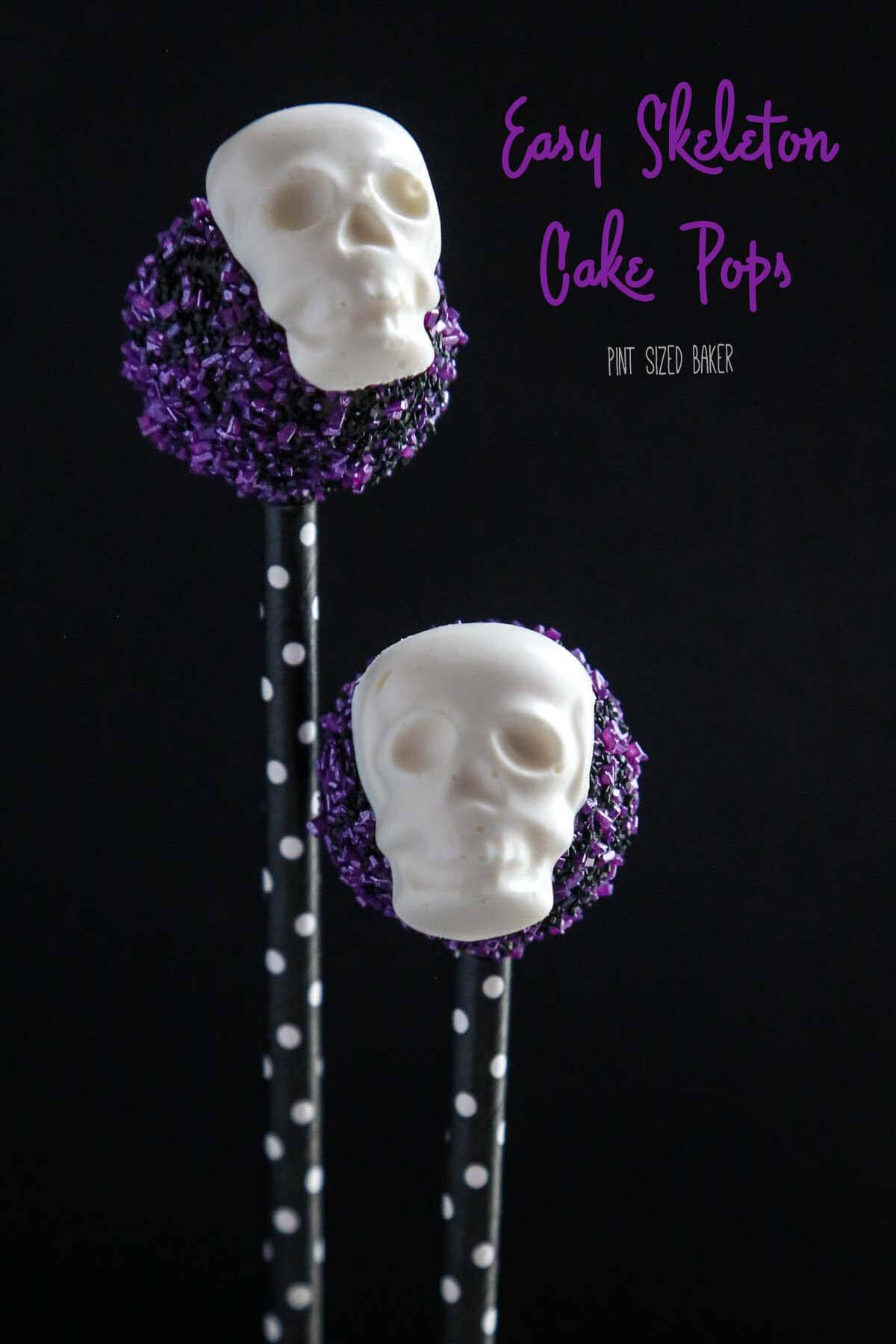 Super Easy Skeleton Cake Pops are perfect to make foryou Halloween party dessert table. Skulls and bones make for a spooky and sweet treat.