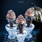 Chocolate Mousse is always a great dessert, so why not make it extra spectacular when you serve it up as these Halloween Mousse Ice Cream Cones covered in sprinkles.