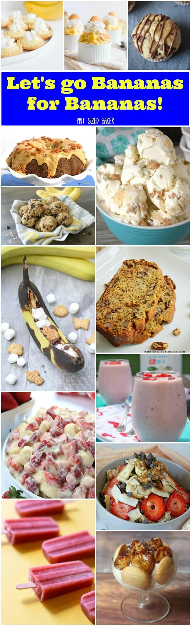 Let's go bananas for Bananas! If you're a banana lover you need these 15 recipes in your baking arsenal. Banana ice cream, bread, cakes and more!