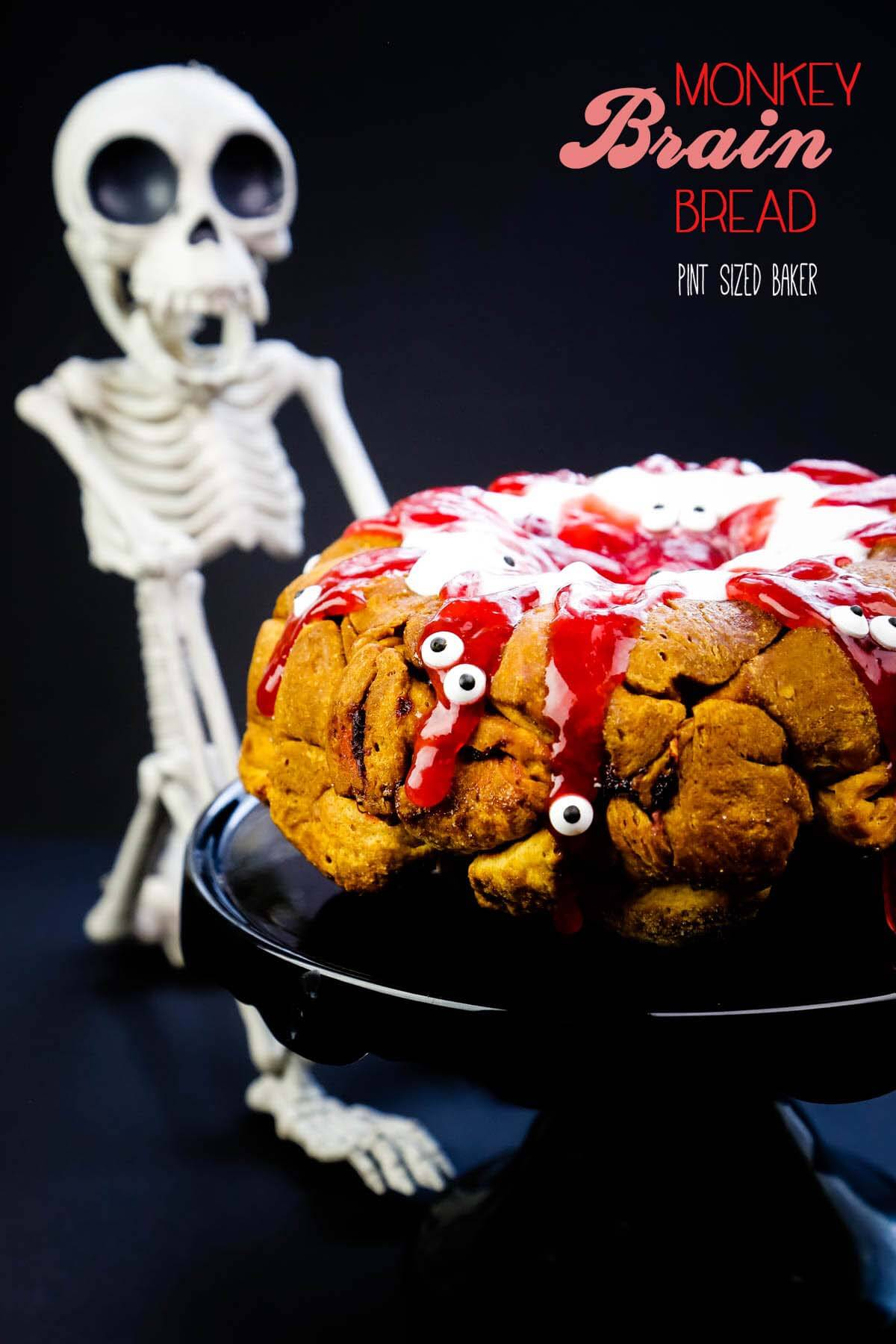 Get a bit gruesome this Halloween when you serve the family a classic Monkey Bread for breakfast when your make Monkey Brain Bread instead.