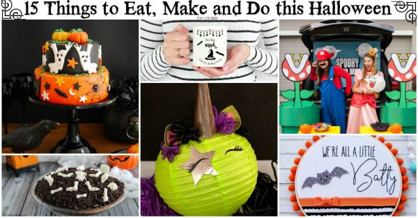 If you are at a lost for creative ideas for a night of Trick-or-Treating? Here's 15 Things to Eat, Make and Do this Halloween night.