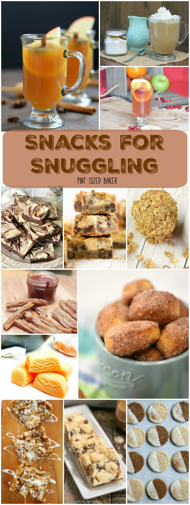 12 perfect snacks for snuggling with the family on the couch to watch TV. Get comfy while the parents enjoy an after dinner drink and the kids nosh on some yummy dessert.
