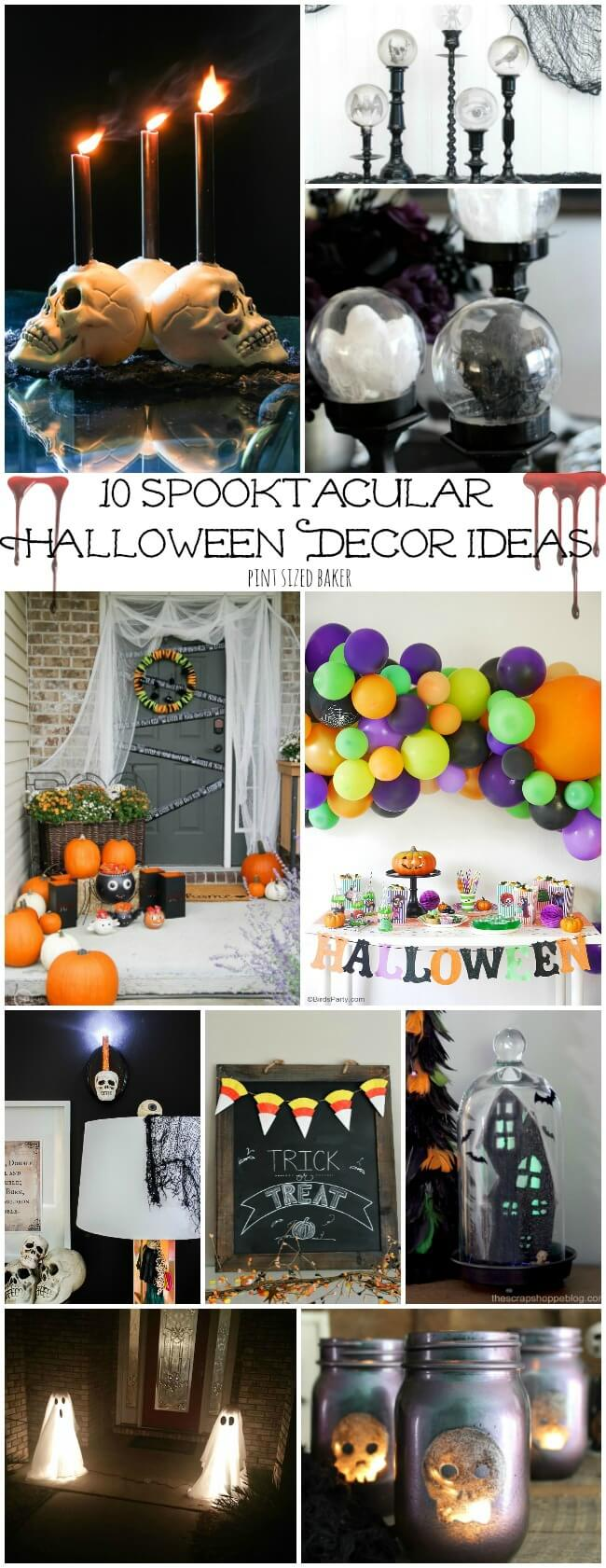 Spooktacular Halloween Decor Ideas Pint Sized Baker