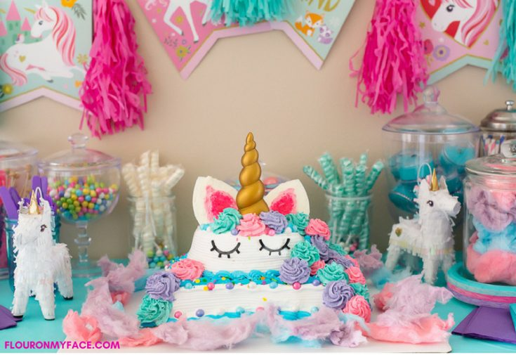 Unicorn Ice Cream Cake #IceCreamCakeBreak