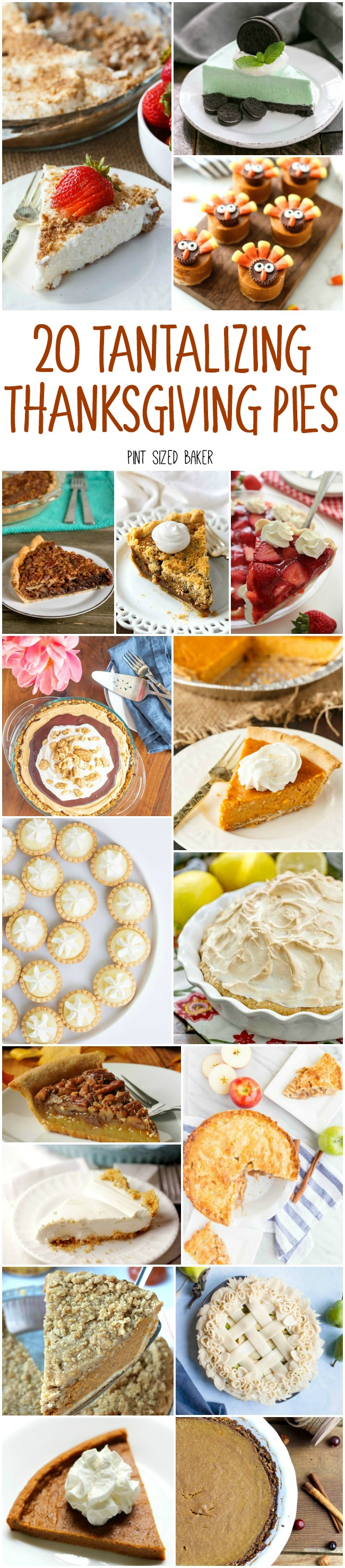 've got 20 Tantalizing Thanksgiving Pies for your fall dessert planning. There are classic pie recipes, some no-bake pies, and a few unique flavors to try.