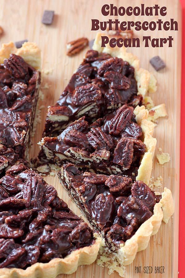 Chocolate Butterscotch Pecan Tart