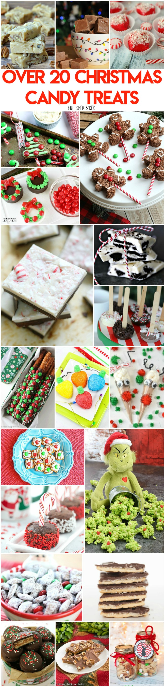 The holidays are all about the sweets. Here's Over 20 Christmas Candy Treats to make this season. Oreo treats, toffee, fudge, and more!