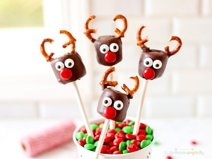 Easy Chocolate Covered Marshmallow Reindeer