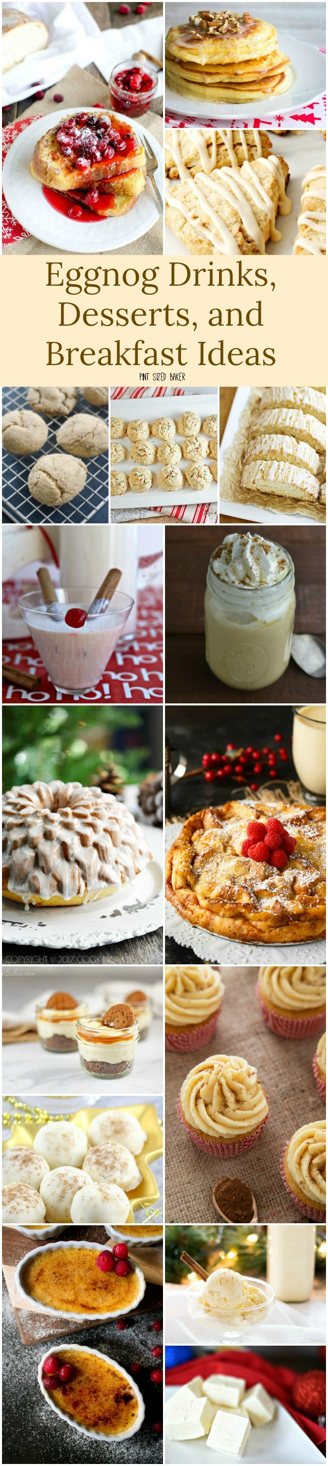 Do you make your own eggnog Love it or hate it, here's 16 Eggnog Drinks, Desserts, and Breakfast Recipe Ideas that are perfect for the holiday season.