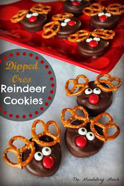 Dipped Oreo Reindeer Cookies