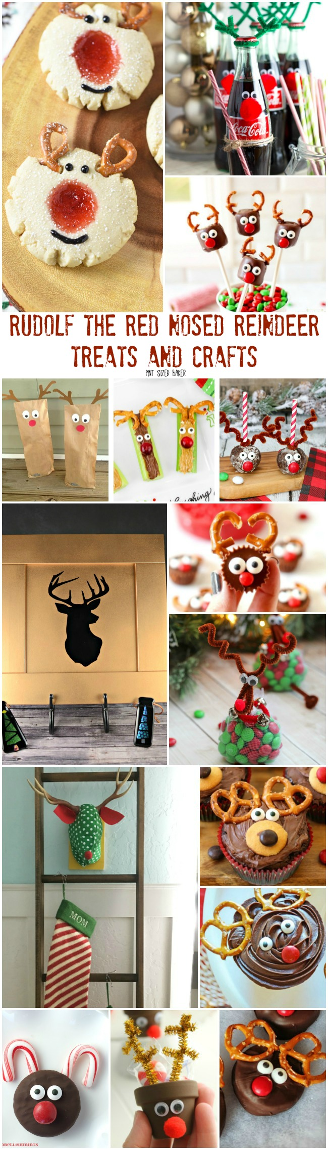 Here's 15 easy Rudolf the Red Nosed Reindeer Treats and Crafts for you and family to make this weekend. The kids can make most of these themselves and can give them to their friends for gifts.