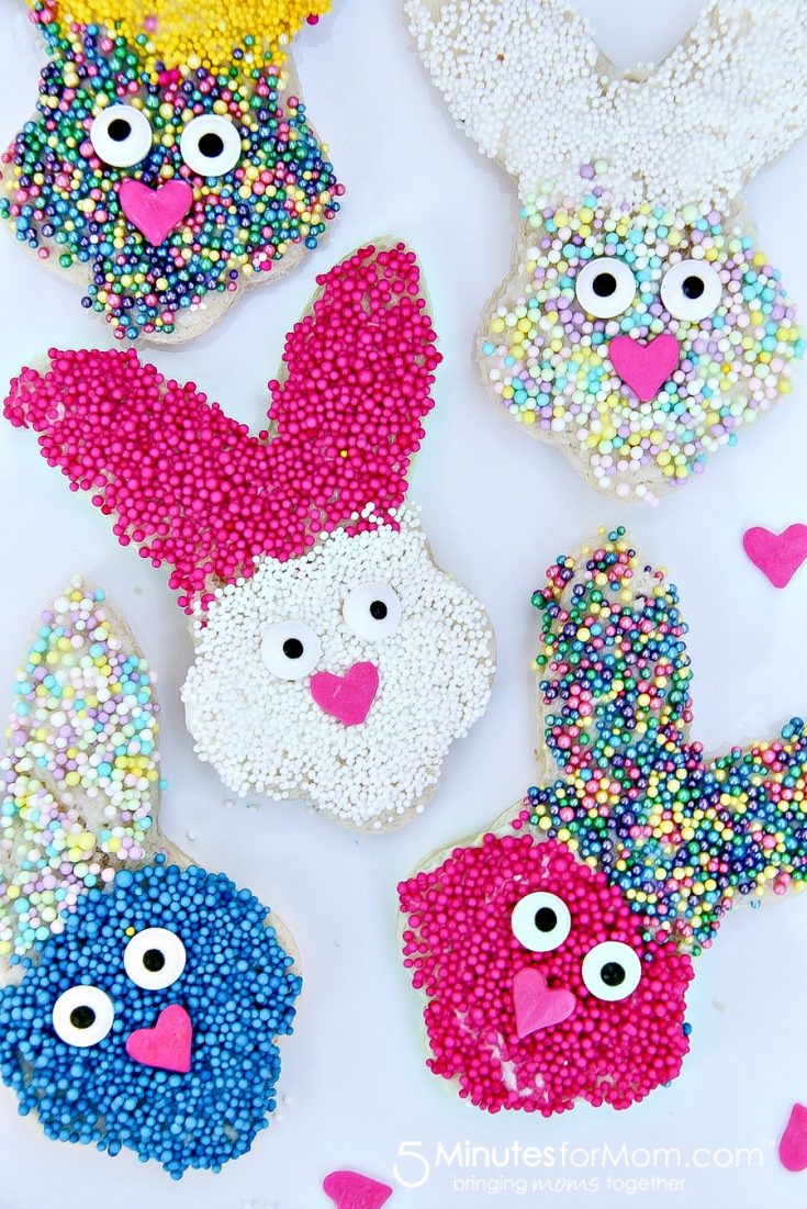 Spring Bunny Treats For Kids - Easter Fairy Bread
