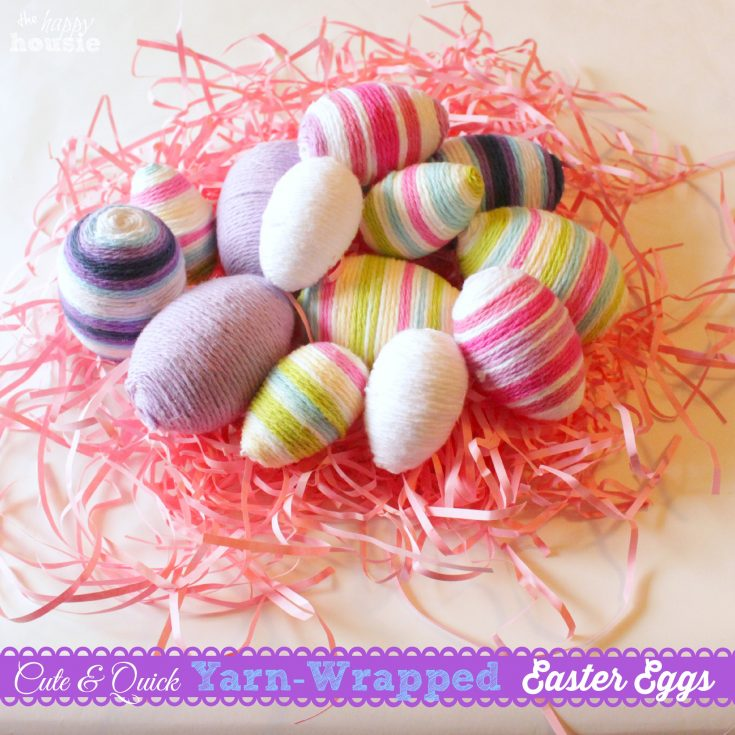 Yarn Wrapped Easter Eggs {& 14 Fab Spring Projects}