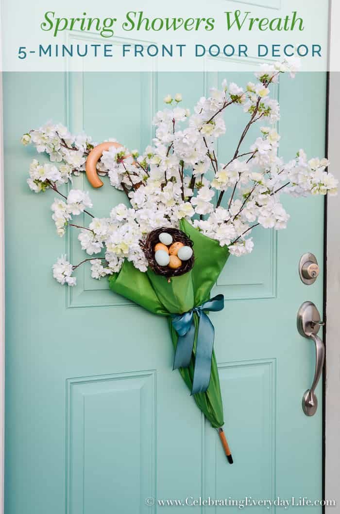 "Easy 5-minute Front Door Umbrella ""Wreath"""