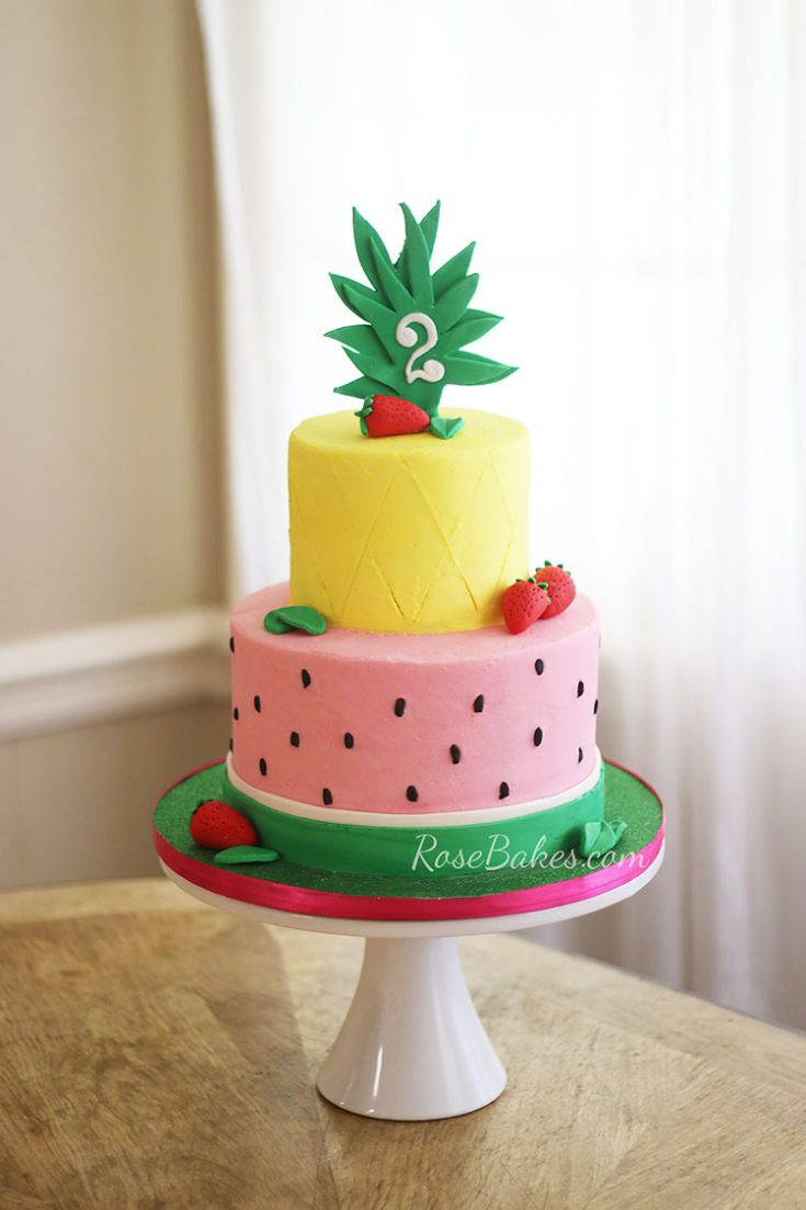 Tutti Frutti Cake + How to Freeze a Decorated Buttercream Cake