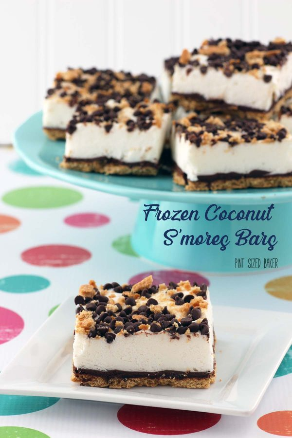 A link to my Frozen Coconut S'mores Bars recipe.