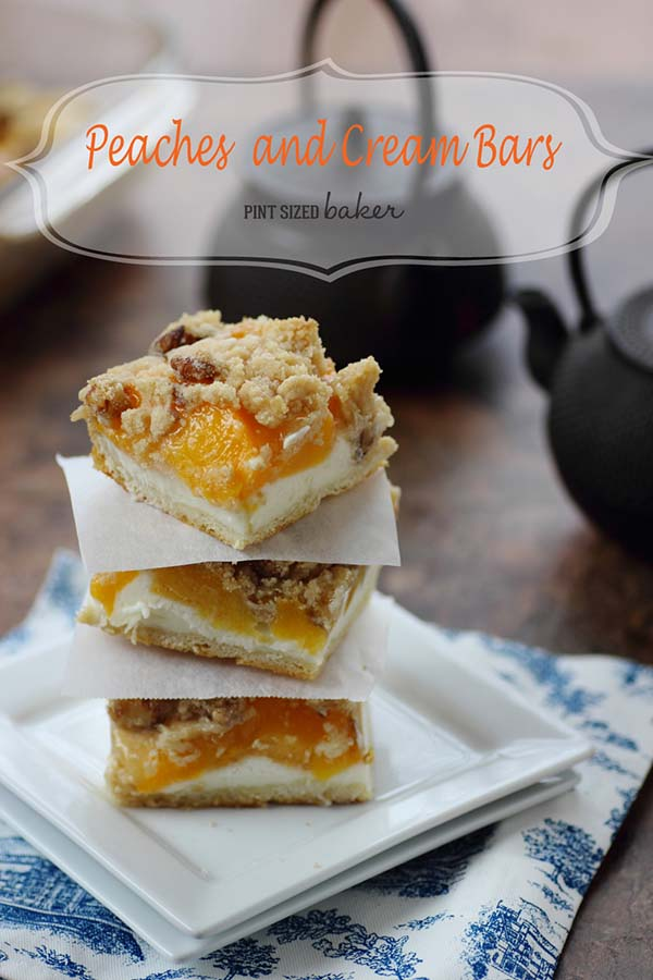 An image linked to my Peaches and Cream Bars Recipe.