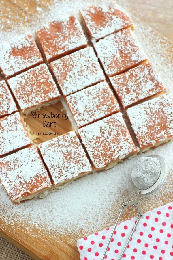 A link to my Strawberry Shortbread cookie Bars recipe.
