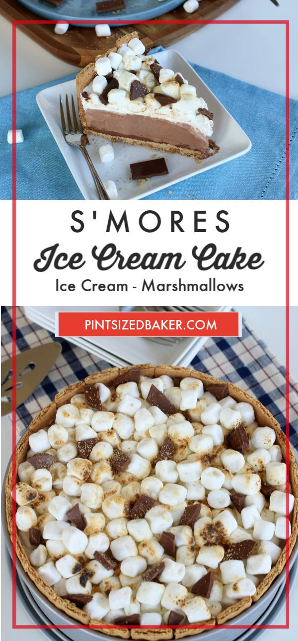 Now you can feel as though you're enjoying your favorite camp out treat anytime you want. This S'mores Ice Cream Cake is truly delectable.