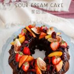 Chocolate Sour Cream Bundt Cake that serves a crowd! Everyone gets a slice if this delicious cake.