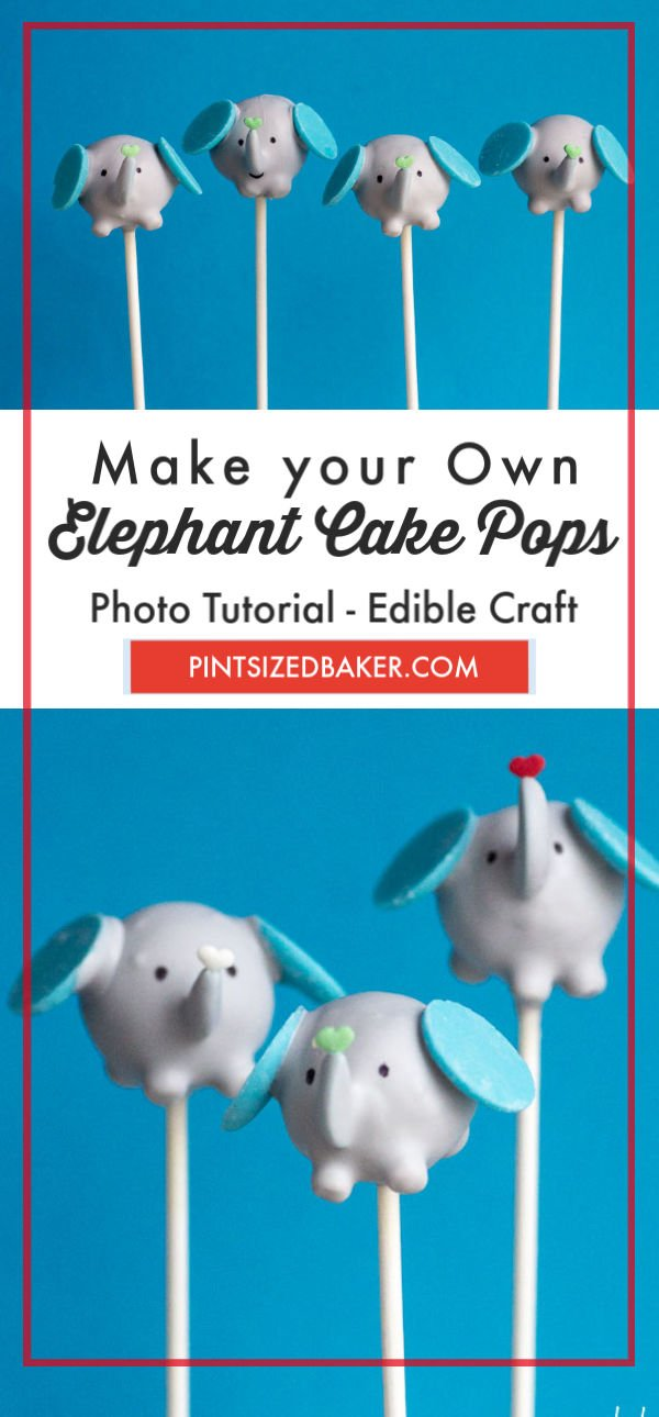 Super cute and fun - These elephant cake pops are a fun treat for your party animals!