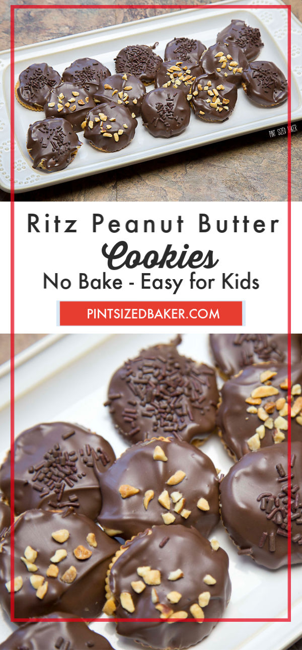 Get the kids and make these sweet and salty, no bake Ritz Cracker and peanut butter cookies!