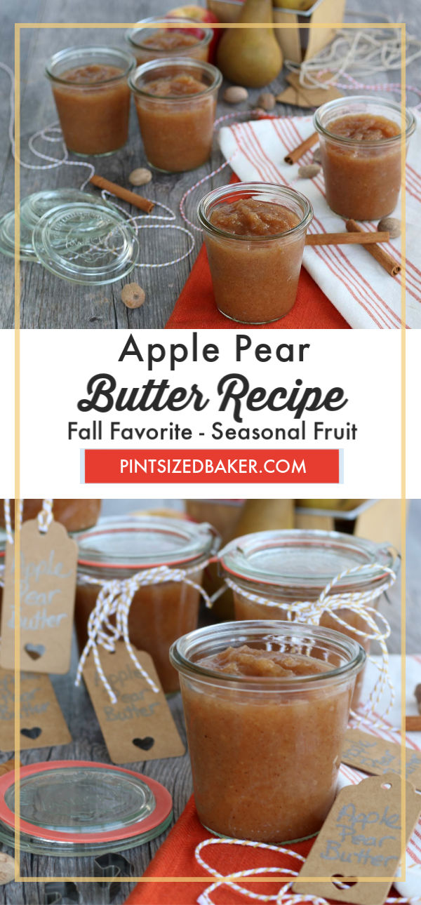 The smells of fall are in the air and it's time to get serious about some of my favorite recipes. Around this time, every year, my family and I go apple picking. We always come home with tons of apples, which means it's time to make my famous Apple Pear Butter Recipe.